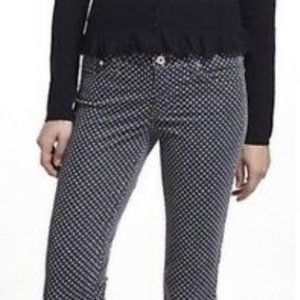 Anthropologie AG Gray Polka Dot Corduroy Pants